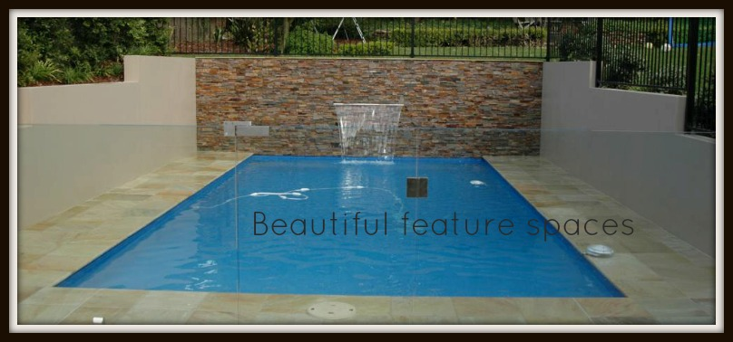 Pool feature wall